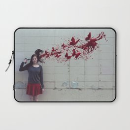 Bullet With Butterfly Wings Laptop Sleeve
