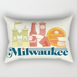 MKE ~ Milwaukee, WI Rectangular Pillow