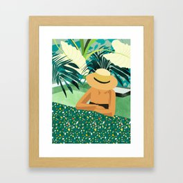 Chill #illustration #travel Framed Art Print