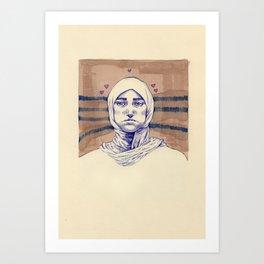Untitled (Five Hearts) Art Print