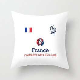 Champion Uefa Euro 2016 France Throw Pillow