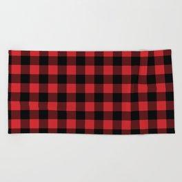 Buffalo Plaid Rustic Lumberjack Buffalo Check Pattern Beach Towel
