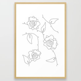 Rose Bush Framed Art Print