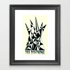 Take The Pain Away Framed Art Print