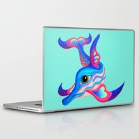 dolphin Laptop & iPad Skins featuring dolphin by giol's