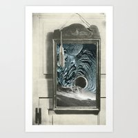mirror Art Prints featuring mirror by Ubik Designs