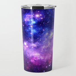 Purple Blue Galaxy Nebula Travel Mug