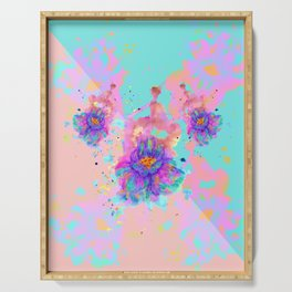 Colorful Watercolor Flower Serving Tray