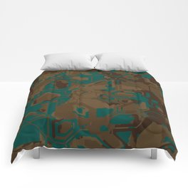 Peacock and Brown Comforters