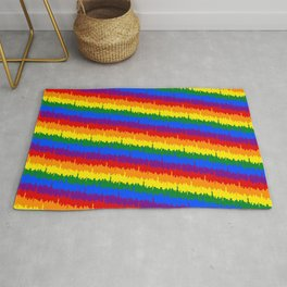 Mini Manhattan Skyline Pride Candy Stripe Rug