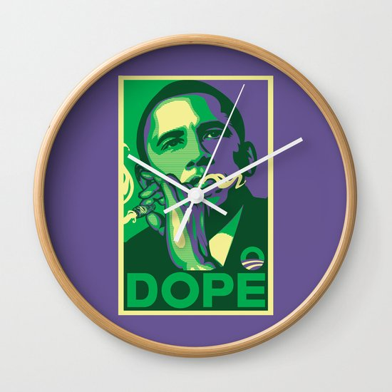 the dopest president Wall Clock