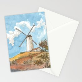 Windmill Against a Blue Sky Stationery Cards