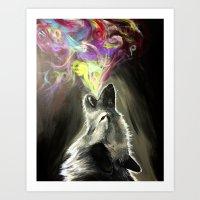 Loud Howl Art Print