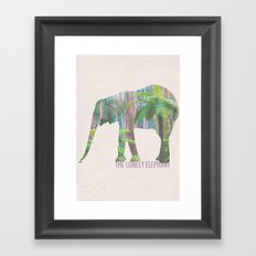 The Lonely Elephant Framed Art Print