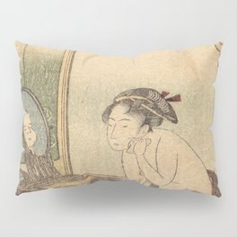 Hokusai, the toilet of a woman- manga, japan,hokusai,japanese,北斎,ミュージシャン Pillow Sham