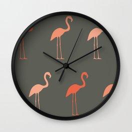 Pretty Flamingo Wall Clock