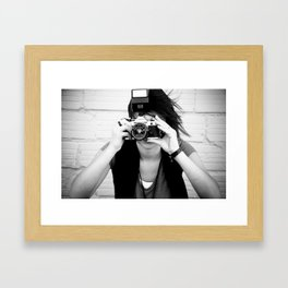 smile you're on canon camera Framed Art Print