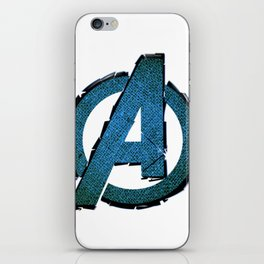 UNREAL PARTY 2012 AVENGERS LOGO FLYERS iPhone Skin
