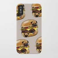 burger iPhone & iPod Cases featuring Pugs Burger by Huebucket