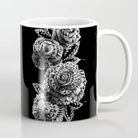 roses Mugs featuring Four Roses by BIOWORKZ