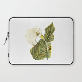 White Calla Lily Laptop Sleeve