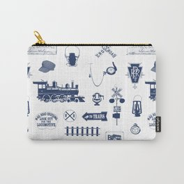 Railroad Symbols // Navy Blue Carry-All Pouch
