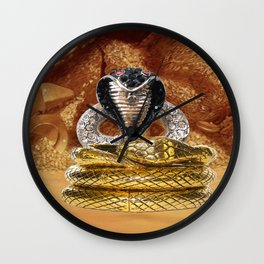 Golden Cobra Wall Clock