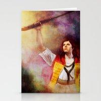 les mis Stationery Cards featuring  Les Misérables Enjolras Genderbend by Kjerstin A
