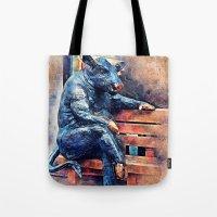 taurus Tote Bags featuring Taurus by jbjart