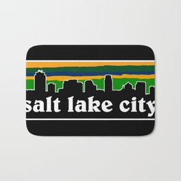 Salt Lake Cityscape Bath Mat