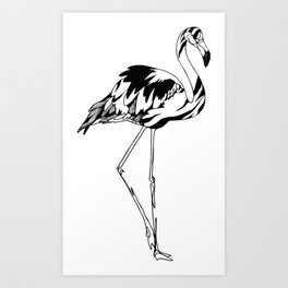 Flamingo #02 Art Print