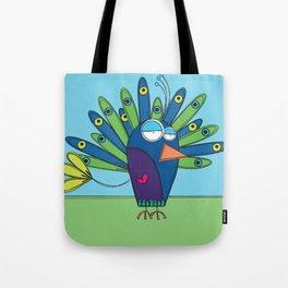 Peacock - Paon Tote Bag