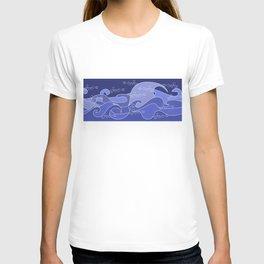Waves V blue colors V duffle bags T-shirt