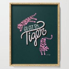 Go Get 'Em Tiger – Teal Serving Tray