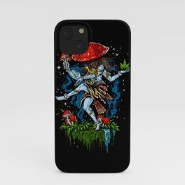 Magic Mushroom Lord Shiva Psychedelic iPhone Case