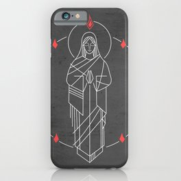 Illustration of Virgin Mary and Holy Spirit at Pentecost iPhone Case