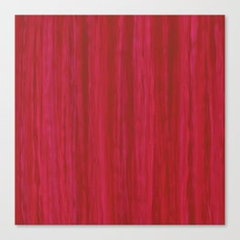 Strawberry Colored Vertical Stripes Canvas Print