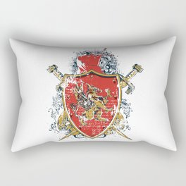 Griffin Shield - Swords - Coat of Arms Rectangular Pillow