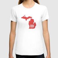 michigan T-shirts featuring Michigan Love by Tank Top Sunday