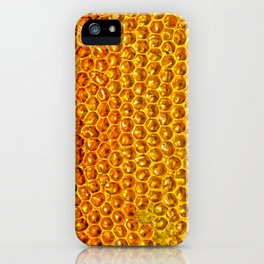 Yellow honey bees comb iPhone Case