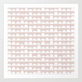 Dunes (light blush) Art Print