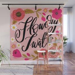 Pretty Swe*ry: Flowery Twat Wall Mural