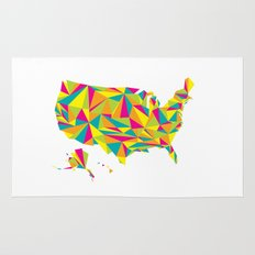 Abstract America Bright Earth Rug