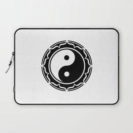 Yin Yang Lotus Flower Laptop Sleeve