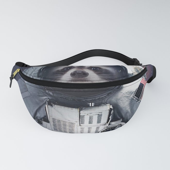 raccoon astronaut in the galaxy Fanny Pack
