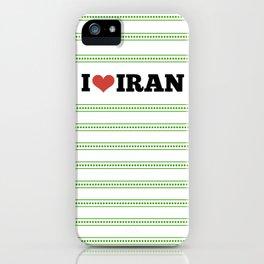 I Love Iran iPhone Case