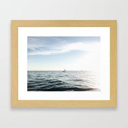 Paddling on the Pacific Framed Art Print
