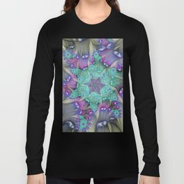 Find Yourself, Abstract Fractal Art Long Sleeve T-shirt