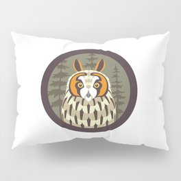 Long-eared Owl Pillow Sham