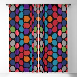 So Much Color Abstract Shapes Multi Blackout Curtain